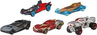 Hot Wheels Vehículo Justice League Autos, Paquete de 5
