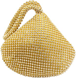 Wiwsi New Women Diamante Encrusted Wedding Evening Handbag Purse Party Prom Bag
