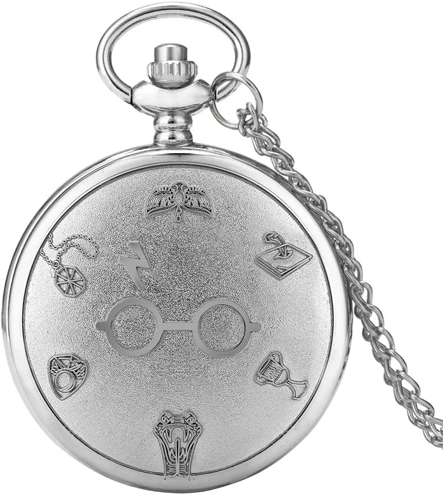 Pocket free shipping Watch Retro Bronze Glasses Lightning Clock Quartz Max 74% OFF