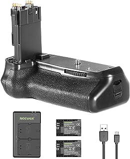 Neewer バッテリーグリップホルダー(Canon BG-E14交換用グリップ) 2個2000mAh LP-E6 LP-E6N交換用バッテリー、マイクロUSB入力デュアル充電器付き Canon EOS 70D 80DカメラDSLRに対応