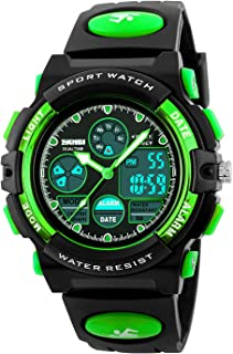 Kid's Digital Watch LED Outdoor Sports 50M Waterproof...
