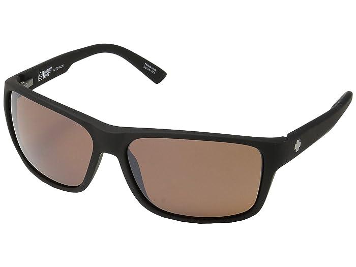 Spy Optic Arcylon (Soft Matte Black/Happy Bronze/Black Mirror) Sport Sunglasses