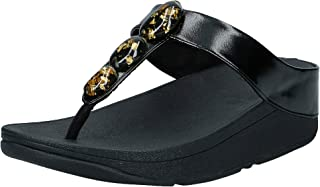 FITFLOP Fino Metallic Fleck Stone Toe-Thongs, Women's Thong Sandals