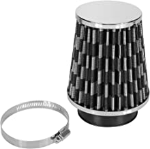 Automotive Induction Air Filter, 3Inch Inlet Car High Flow Cold Air Filter Intake Cleaner Induction Kit Round High Power Mesh Cone with a Stainless Steel Clamp (Black)