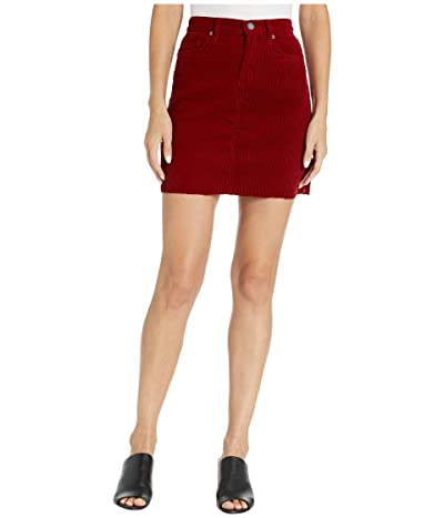 Blank NYC Rigid Wide Wale A-Line High-Rise Skirt (Cherry Pop) Women