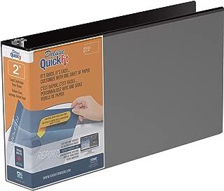 QuickFit Heavy Duty 8.5 x 14 Landscape Spreadsheet View Binder, 2 Inch, Round Ring, Black (95031L)