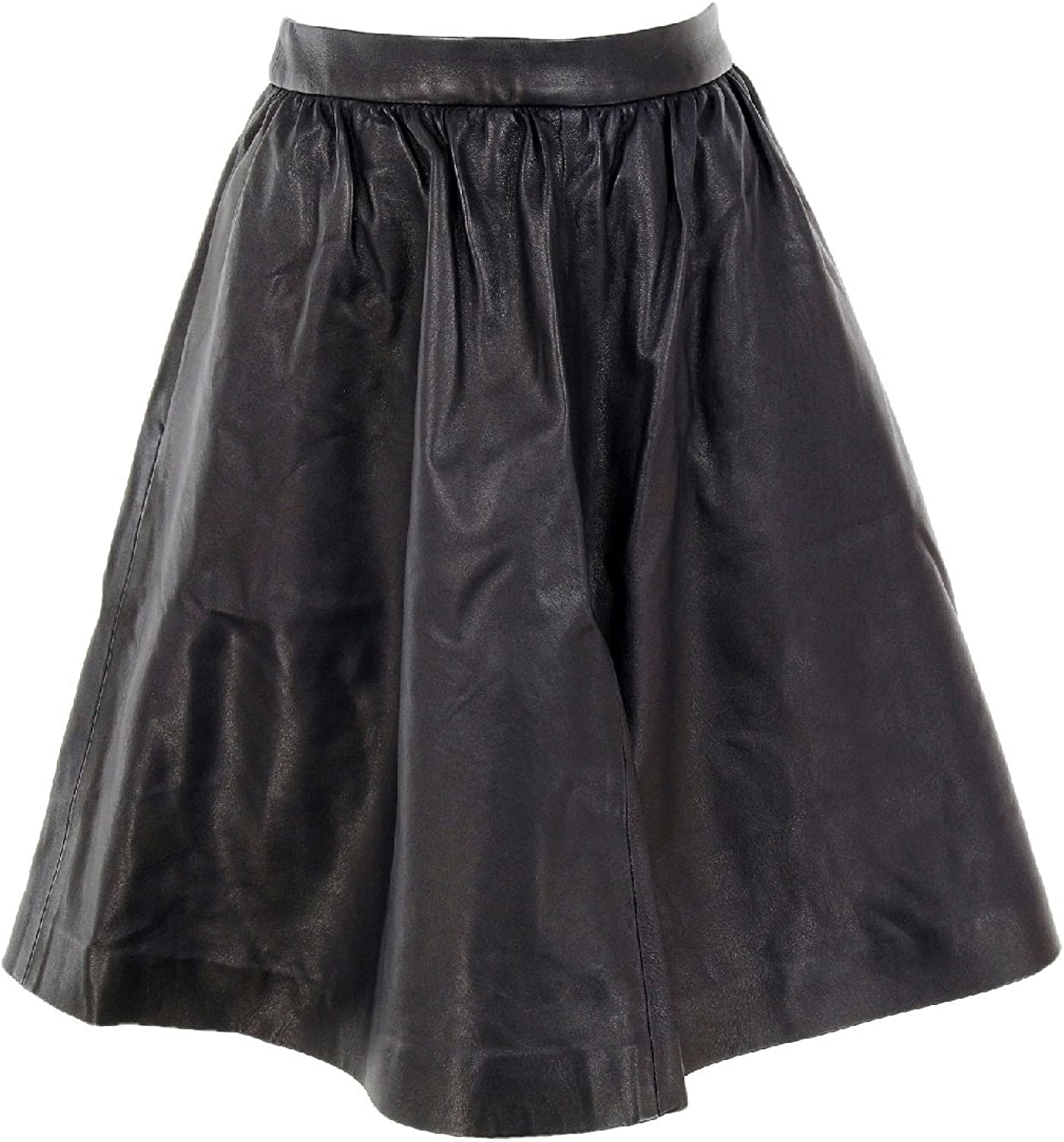 J Crew Collection Navy Leather Skirt Size 6 Sample