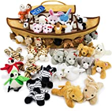 Imagination Generation 2-Foot Noah's Ark Plush Toy Playset - 42-Piece Set of 4 Stuffed Animals with Ark - Bible Story Baby Gift, Great for Easter, Christmas, Baptisms, Christenings