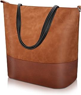 comprar comparacion Proking Mujer Bolso de Mano Grande Bolso de Hombro Bolso Tote Bag Bolsos Shopper Bolso de cuero de la PU Gran capacidad Bo...