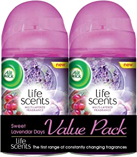 Air Wick Life Scents Freshmatic Automatic Spray Refill, Sweet Lavender Days, 250ml (Pack of 2)