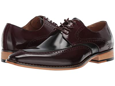 Stacy Adams Sanford (Burgundy/Black) Men