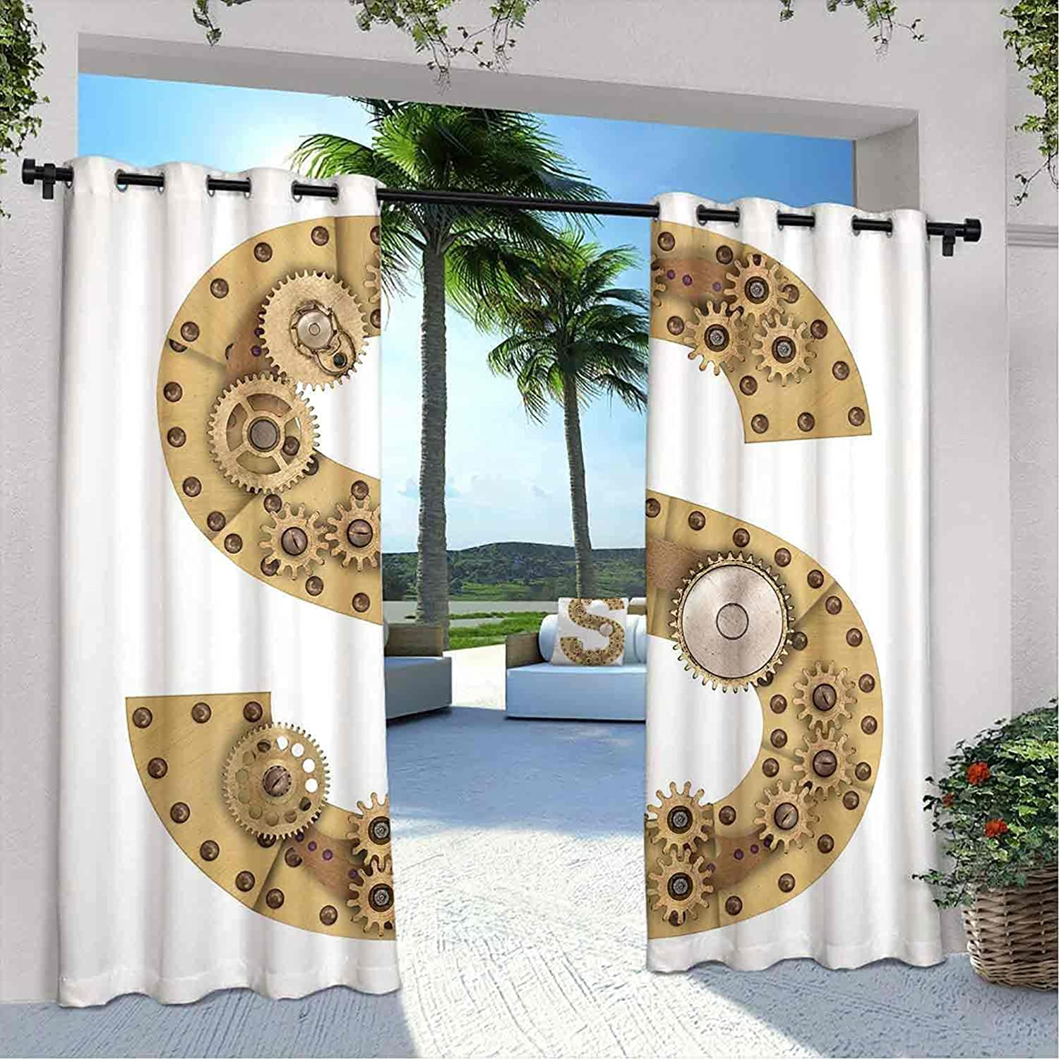 Letter low-pricing S Waterproof Gazebo Typogr Curtains Selling and selling Technology Gearwheel