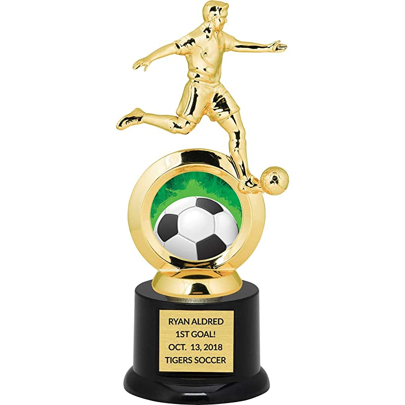 Custom Boy's Soccer Trophy for Kids with Free Laser Engraving - 8.75 inch