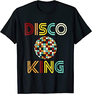 Disco King Mens Distressed Dance 70s 80s T-Shirt