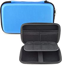 GHKJOK Carrying Case for Nintendo 3DS NEW 3DS XL, 2DS XL & Accessories with Mesh Pouch EVA Hard Shell Multi-Purpose Travel Organizer - Blue