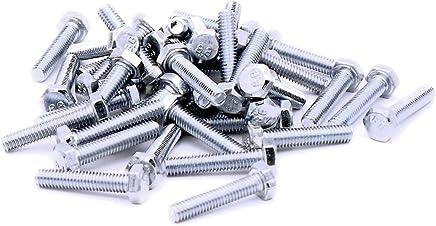 Tornillos hexagonales M12 totalmente roscados, chapados en zinc