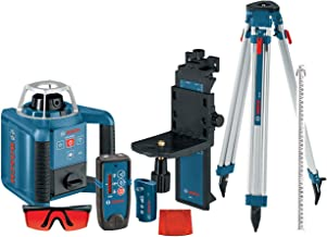 Bosch Self-Leveling Rotary Laser with Layout Beam Kit with Receiver, Remote, Tri-pod and..