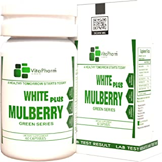 White Mulberry Plus by VitaPharm Nutrition   Natural Blood Sugar Control,Stabilizer Supplement   Herbal Immune Boosting Su...