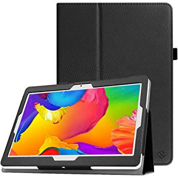 Fintie Case for Dragon Touch 10 inch K10 / Notepad K10 / Max10 Tablet, Premium PU Leather Stand Cover Compatible Lectrus 10.1, Victbing 10, Hoozo 10, Winsing 10, ZONKO 10.1 Android Tablet, Black