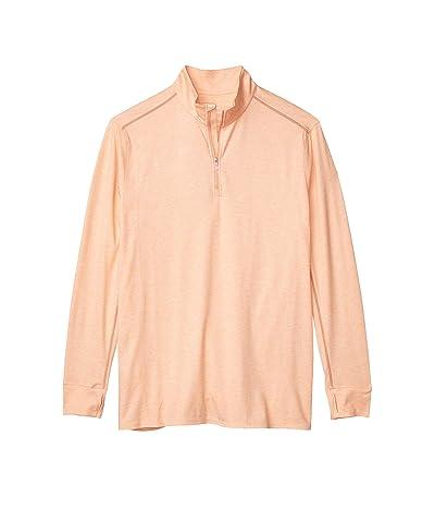 Tommy Bahama Big & Tall Palm Valley IslandZone Half-Zip Sweatshirt (Peach Parrot Heather) Men