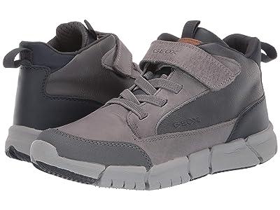 Geox Kids Jr Flexyper 9 (Big Kid) (Dark Grey/Navy) Boys Shoes