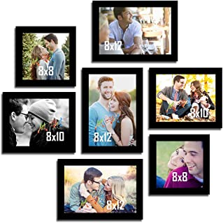 Painting Mantra & Art Street Set of 7 Individual Couple Photo Frame/Wall Hanging for Home Décor - Black