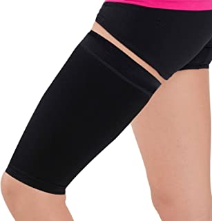 Thigh Compression Sleeve – Hamstring, Quadriceps, Groin Pull and Strains – Running, Basketball, Tennis, Soccer, Sports – Athletic Thigh Support (Single)