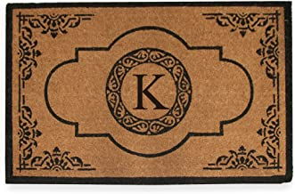 A1 Home Collections PT4007K First Impression Hand Crafted Abrilina Entry Monogrammed Doormat, Double, 30