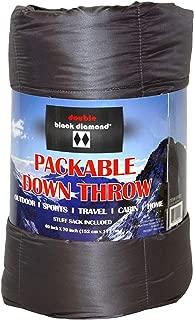 Double Black Diamond Packable Down Throw, Storm