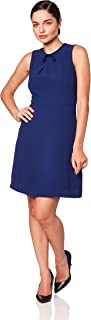 Amazon Brand - Lark & Ro Women's Sleeveless Fit and Flare Dress with Bow Detail