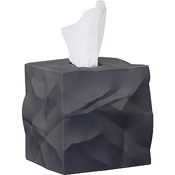Caja para pa/ñuelos de papel tisu Beige mate Contenedor para pa/ñuelos desechables mDesign Caja cuadrada para pa/ñuelos descartables