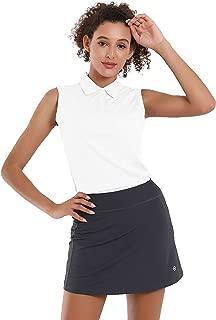 BUBBLELIME Women's UPF 50+ Golf Tennis Sleeveless Polo Shirts 5-Botton Quick Dry Moisture Wicking Activewear Outdoor Sports