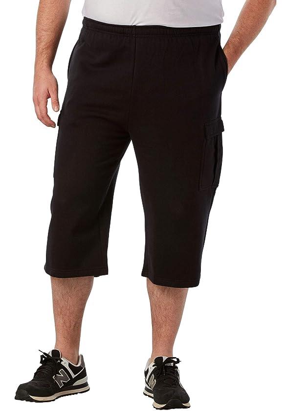 KingSize Men's Big & Tall Fleece Judo Shorts