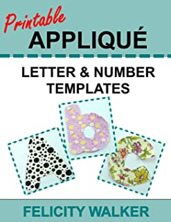 Printable Applique Letter & Number Templates: Alphabet patterns with uppercase and lowercase letters, numbers 0-9, and symbols, for sewing, quilting, fabric, crafts