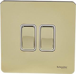 Schneider Electric GU1422WPB interruptor eléctrico Rocker switch Latón - Accesorio cuchillo eléctrico (Rocker switch, Latón, Acero inoxidable, IP20, 16 A, 88 mm)