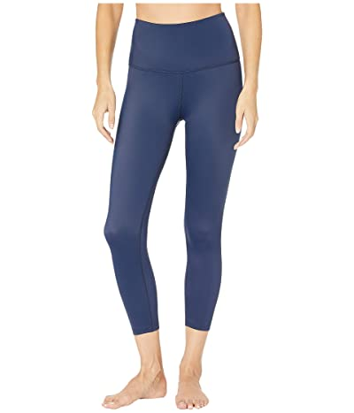 Beyond Yoga Compression High Waisted Capri Leggings (Outlaw Navy) Women
