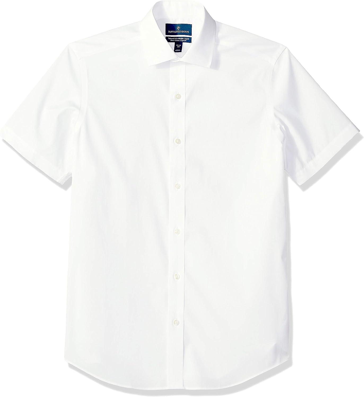 海外並行輸入正規品 新色追加 Buttoned Down Men's Tailored Short-Sleeve Fit Stre Spread-Collar