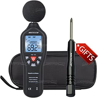 NKTECH NK-D2 USB Data Logging Digital LCD Sound Meter Noise Level Auto Ranging 30 – 130 dB Decibel Frequency 31.5Hz-8.5kHz High Accuracy +1.5dB 32000 Readings Backlight Tester