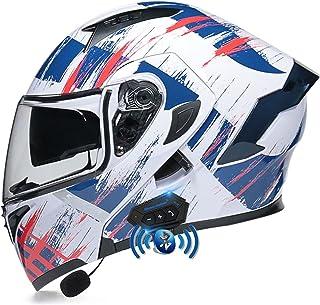 Casco de Moto Modular con Bluetooth Integrado ECE/Dot Homologado Cascos integrales Moto Hombre Mujer Adultos Cascos modula...