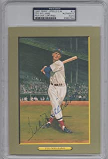 Ted Williams Signed Certified Perez Steele Great Moments Card #13 Auto - PSA/DNA Certified - MLB Autographed Baseball Cards