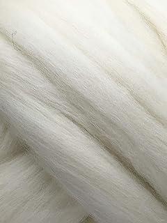 Shep`s Natural White Merino Wool Top Roving Fiber Spinning, Felting Crafts USA (8lb)