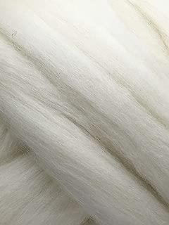 Wool Roving 1 lb Shep's Wool White Soft Merino Wool for Spinning, Hand Spinning, Wool for Felting, Wool Top Roving Spinning, (1lb) Needle Felting Wool, Wool roving, Wool Fiber