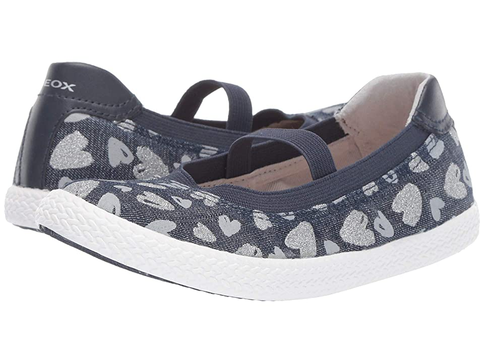 Geox Kids Kilwi Girl 47 (Little Kid) (Avio/Silver) Girl