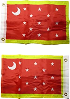 ALBATROS 12 in x 18 in Historical Van Dorn 2ply Double Sided Flag Grommets for Home and Parades, Official Party, All Weather Indoors Outdoors