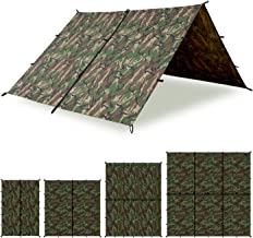 Aqua Quest Defender Tarp - 100% Waterproof Heavy Duty Nylon Bushcraft Survival Shelter - 10x7, 10x10, 13x10, 15x15 Camo or Olive Drab