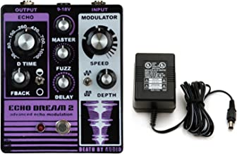 Death by Audio Echo Dream 2 Delay Pedal with Fuzz and Modulation w/Power Supply