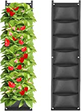 IWNTWY 7 Pockets Vertical Hanging Grow Bag, Wall Mount Garden Planter Bags for Indoor Outdoor Yard Balcony Planting Strawb...
