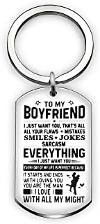 Valentine Key Chain Ring Boyfriend Gift Men Jewelry from Girlfriend - to My Friend Everything I Just Want You