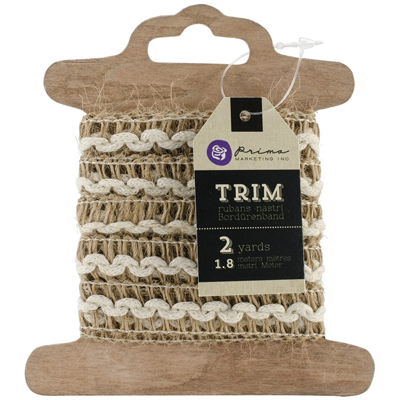 Prima Marketing 573379 Prima Trim Burlap with White Double Scallop