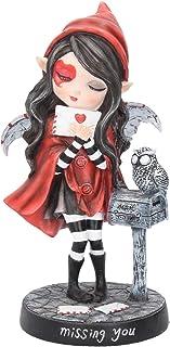 comprar comparacion Nemesis Now Missing You - Figura Decorativa (24 cm, 15 cm), Color Rojo